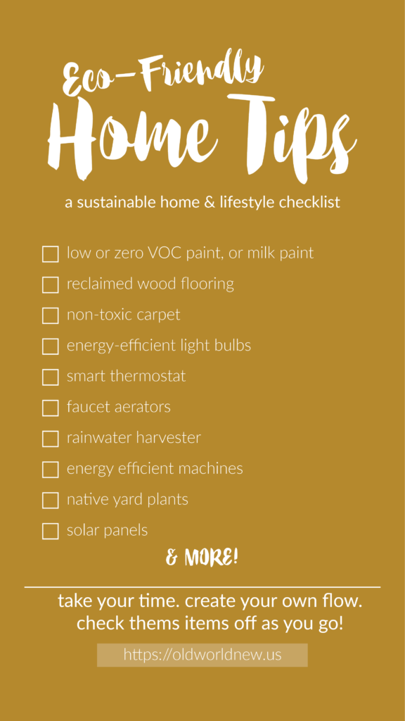 Create an eco-friendly home by following these tips!