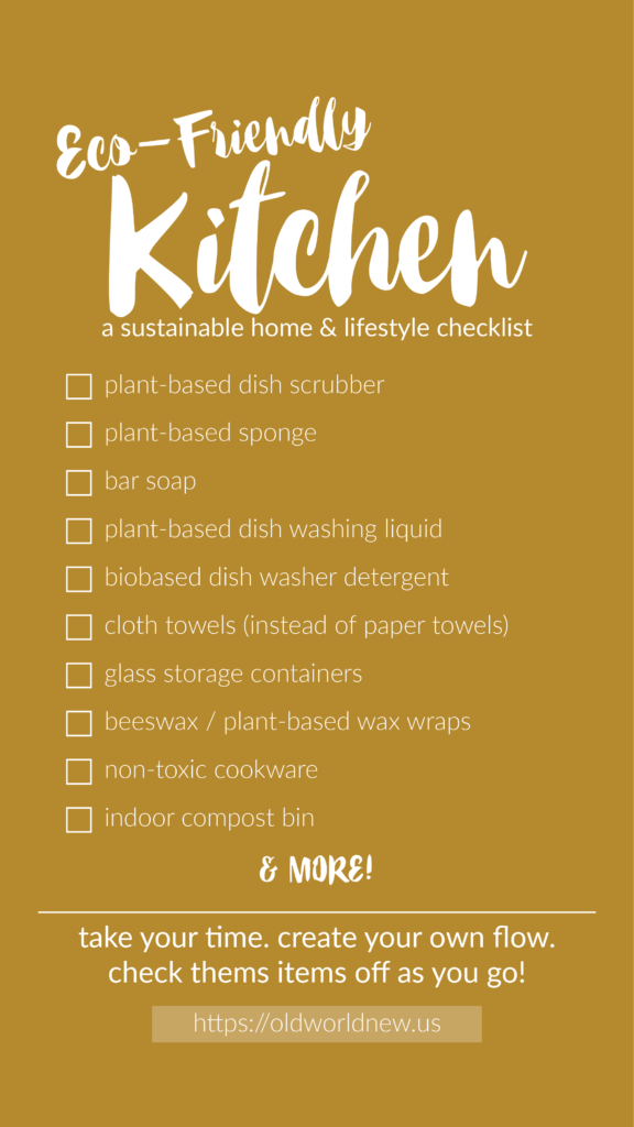 Create an eco-friendly home by following this kitchen checklist!