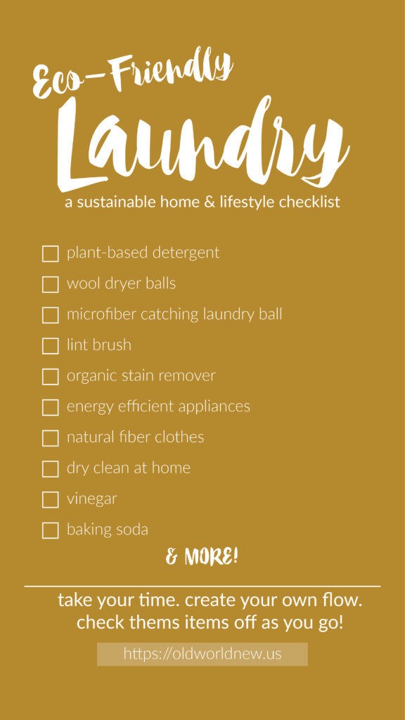 Create an eco-friendly home by following this laundry room & clothing checklist!