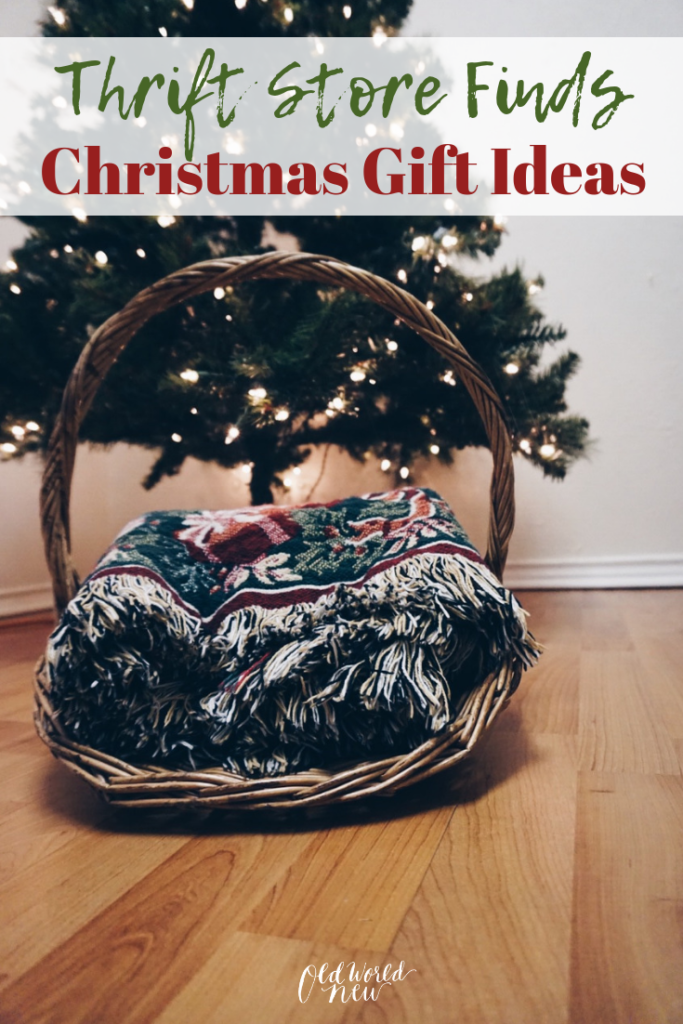 Turn your favorite thrift store finds into gifts for those you love. Second hand shopping is a great way to be a conscious shopper and gifter!