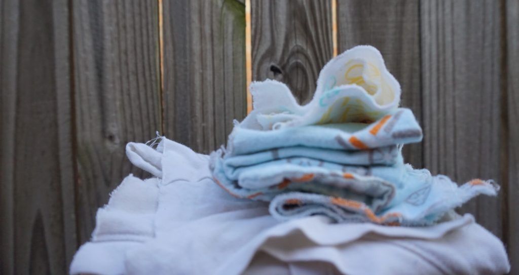 spring cleaning tips - towels cut from old clothes