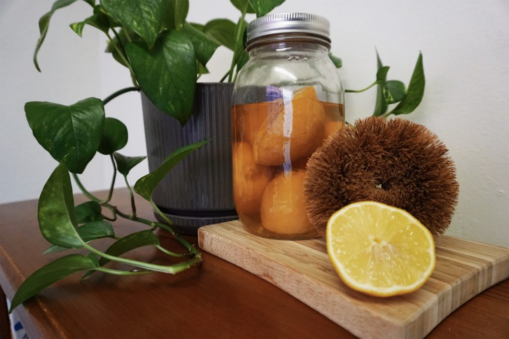 Lemon and Vinegar - an easy DIY natural cleaning recipe