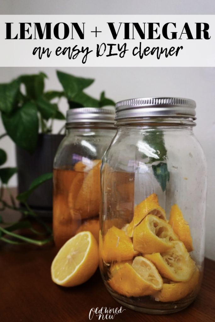 Make your own lemon + vinegar non-toxic cleaning spray to clean your home in a natural and eco-friendly way