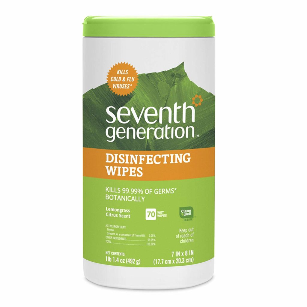 seventh generatoin disinfecting wipes non-toxic cleaning products