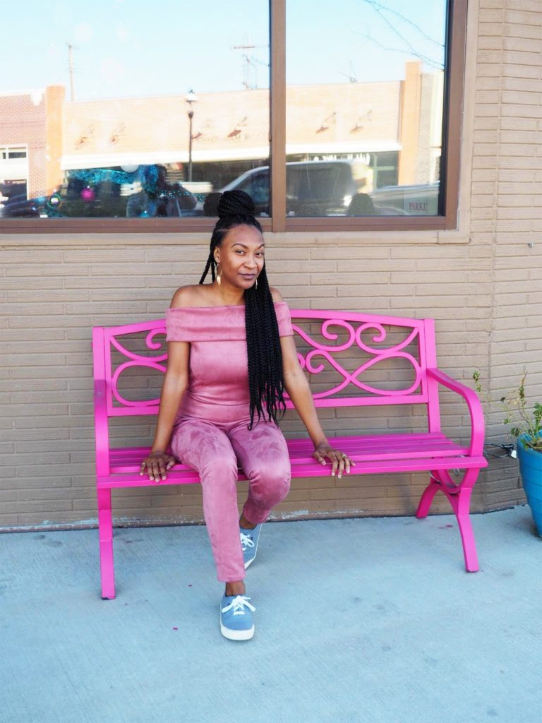 pink fashion nova jump suit