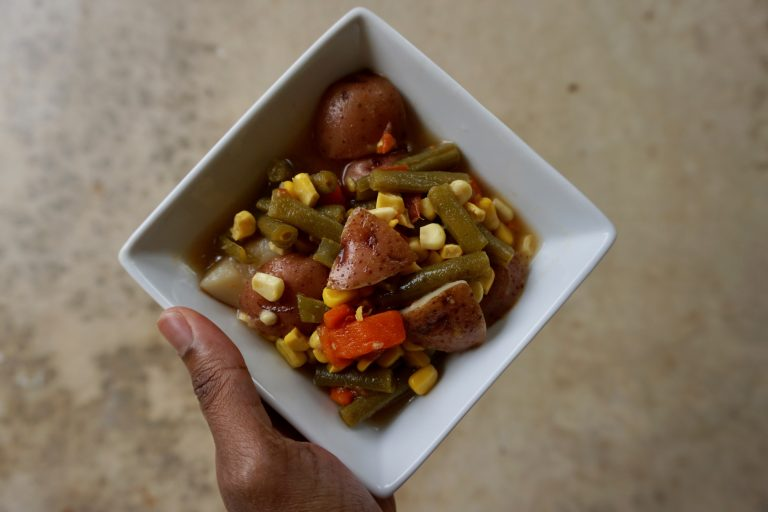 vegetable soup recipe using ingredients from the grand prairie farmers market