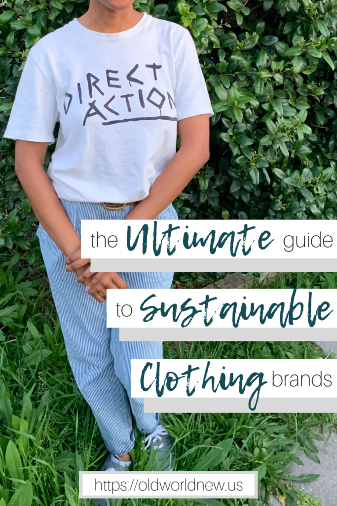 The Ultimate Guide to Sustainable Clothing Brands and Shops for Adults - via Old World New