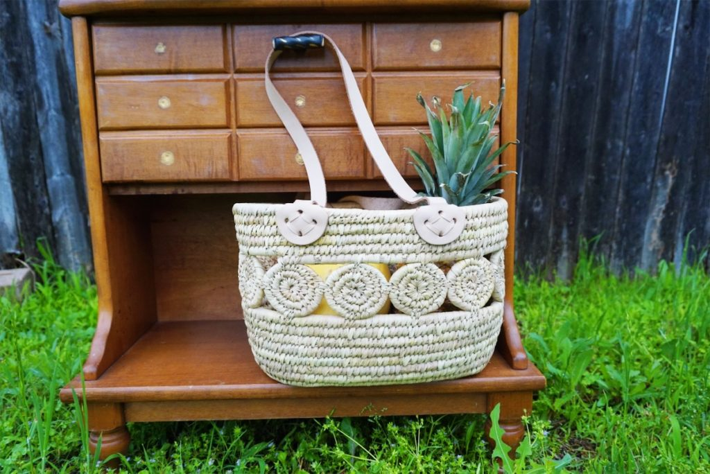fair trade and handmade basket from ten thousand villages