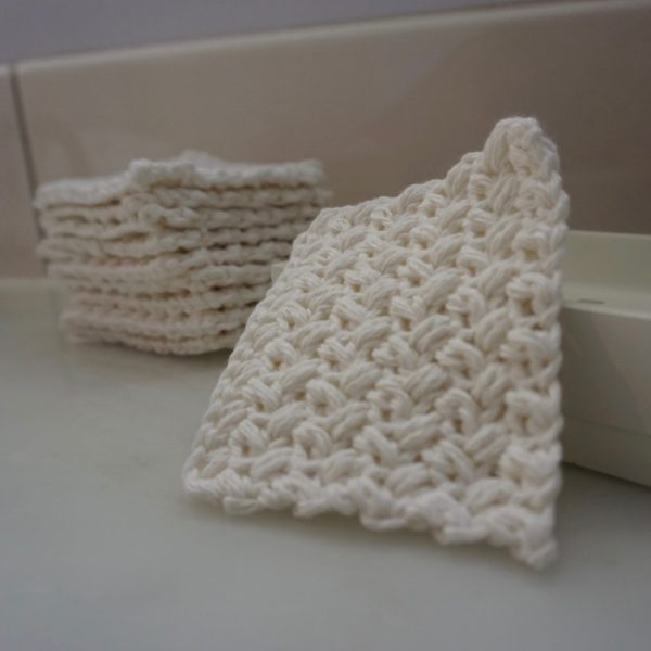Old World New - square reusable facial scrubbies