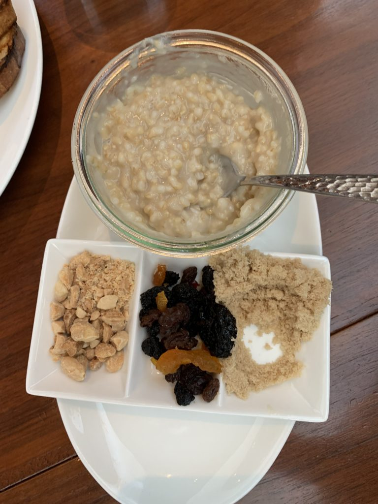 oatmeal at the hive - 21c museum hotel bentonville arkansas