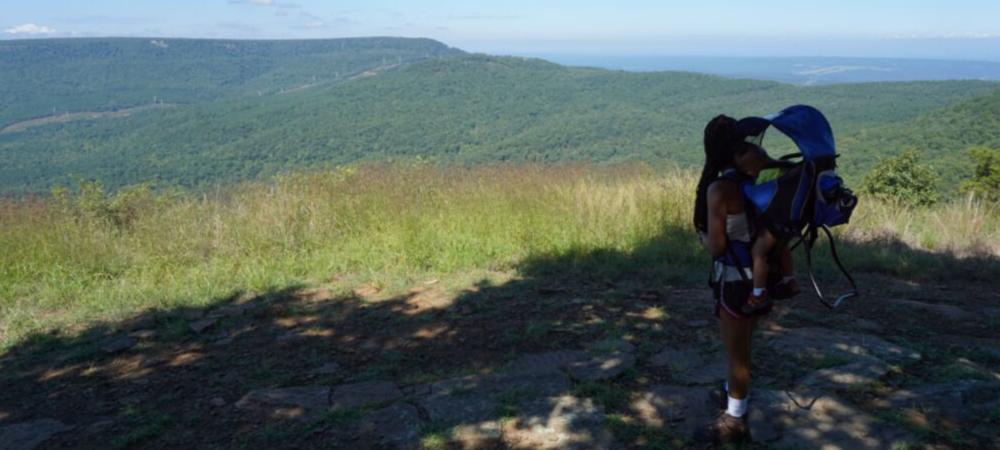 hiking at mount nebo state park arkansas