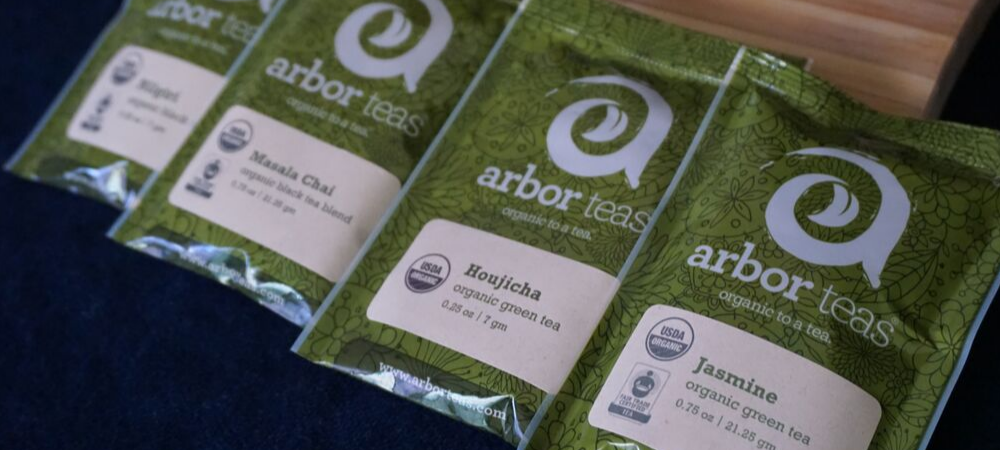 arbor teas - organic, natural, fair trade, sustainable packaged loose leaf tea