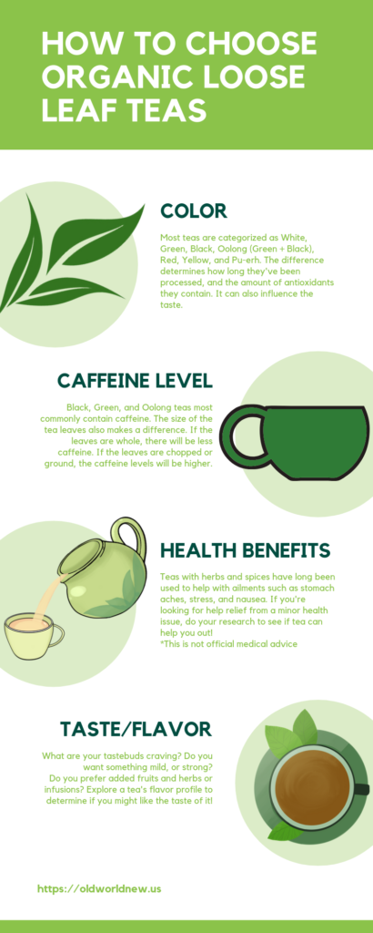 how to choose organic loose leaf tea