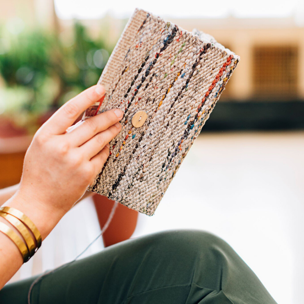hygge gift guide - fair trade journal made from recycled material