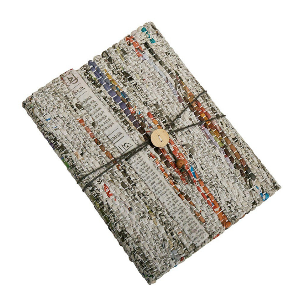 hygge gift guide - fair trade recycled journal