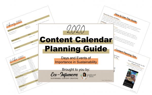 Eco-Influencers Calendar Mockup Display Page