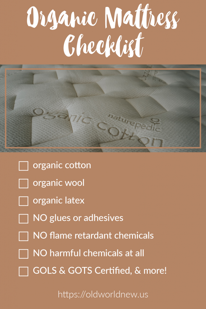 Organic Mattress Checklist