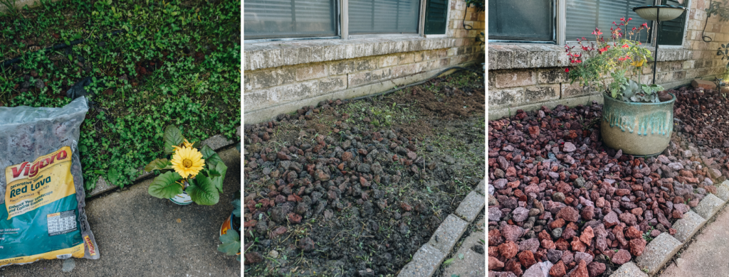 lava stone yard update - vigoro at the home depot