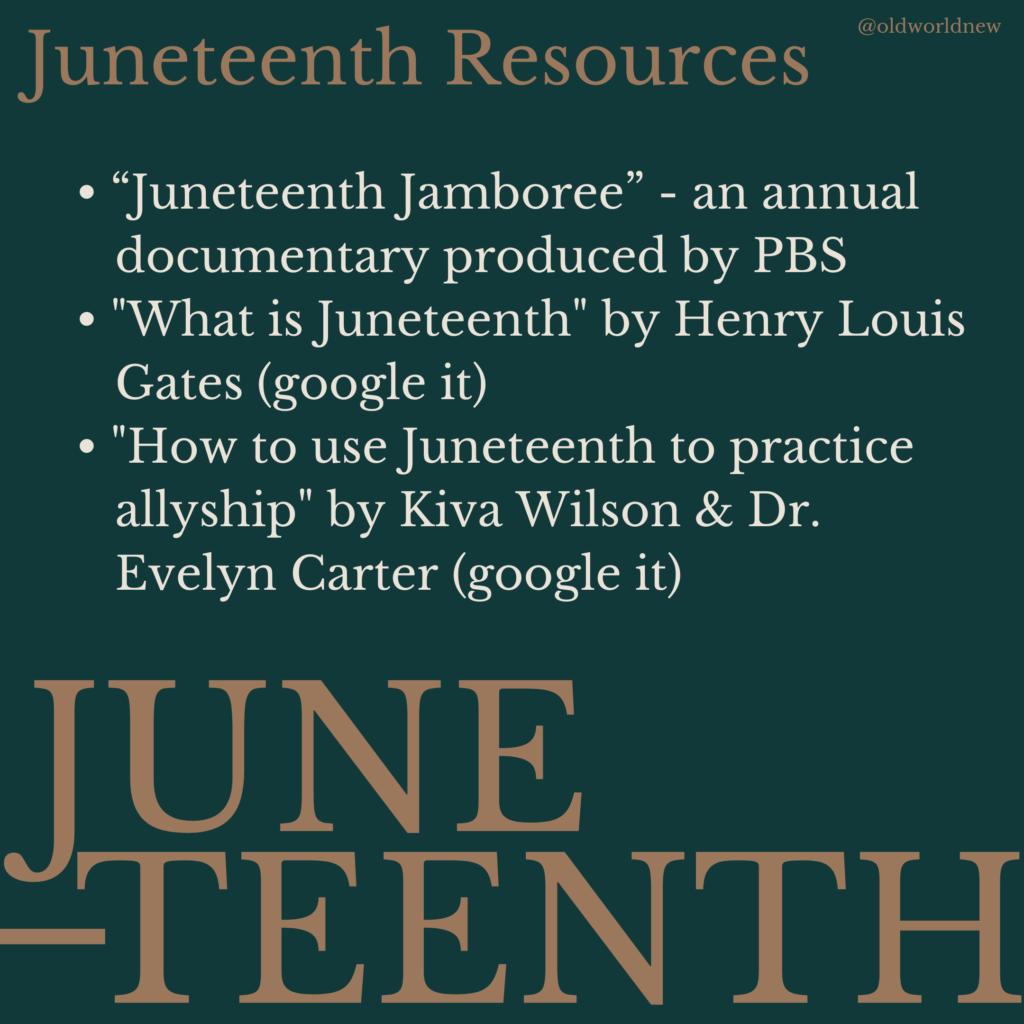 Juneteenth Resources