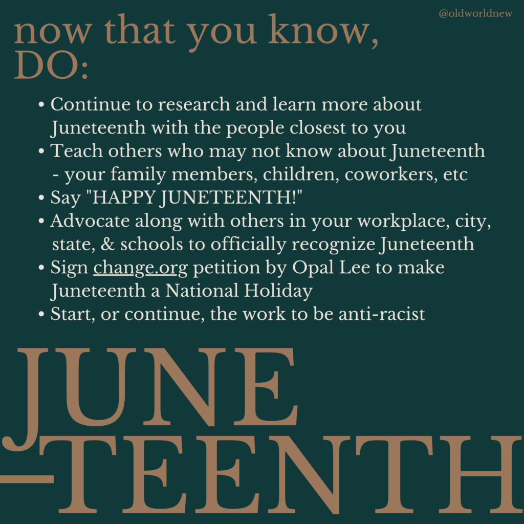 What to do to support Juneteenth recognition