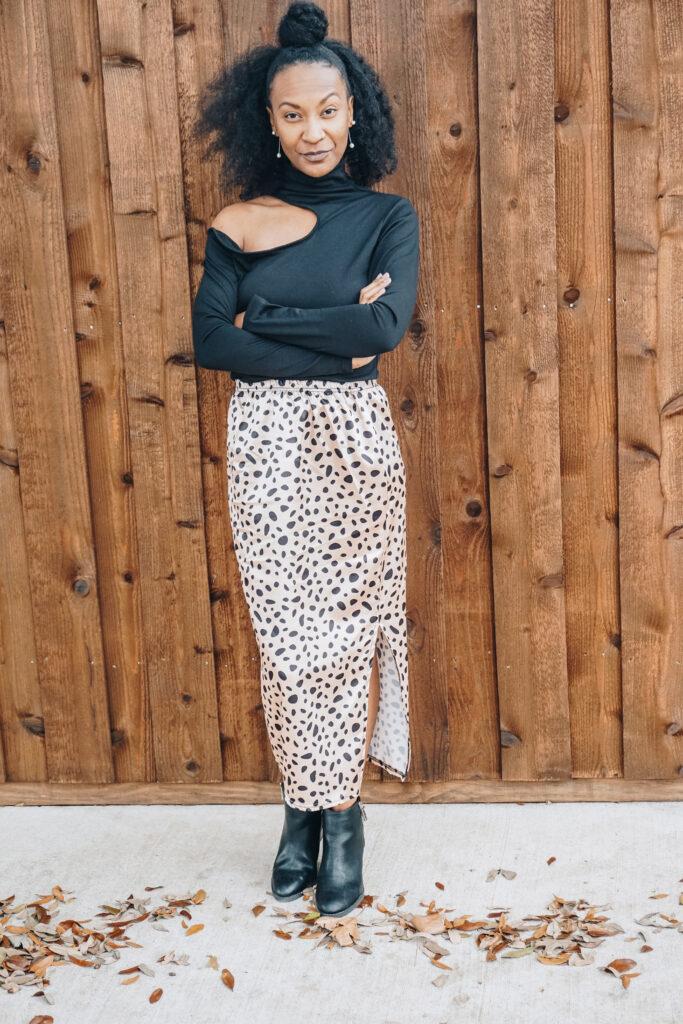 clothing swap animal print maxi skirt for fall