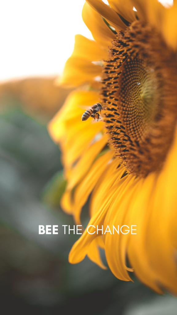 bee the change - iPhone screen saver - Old World New