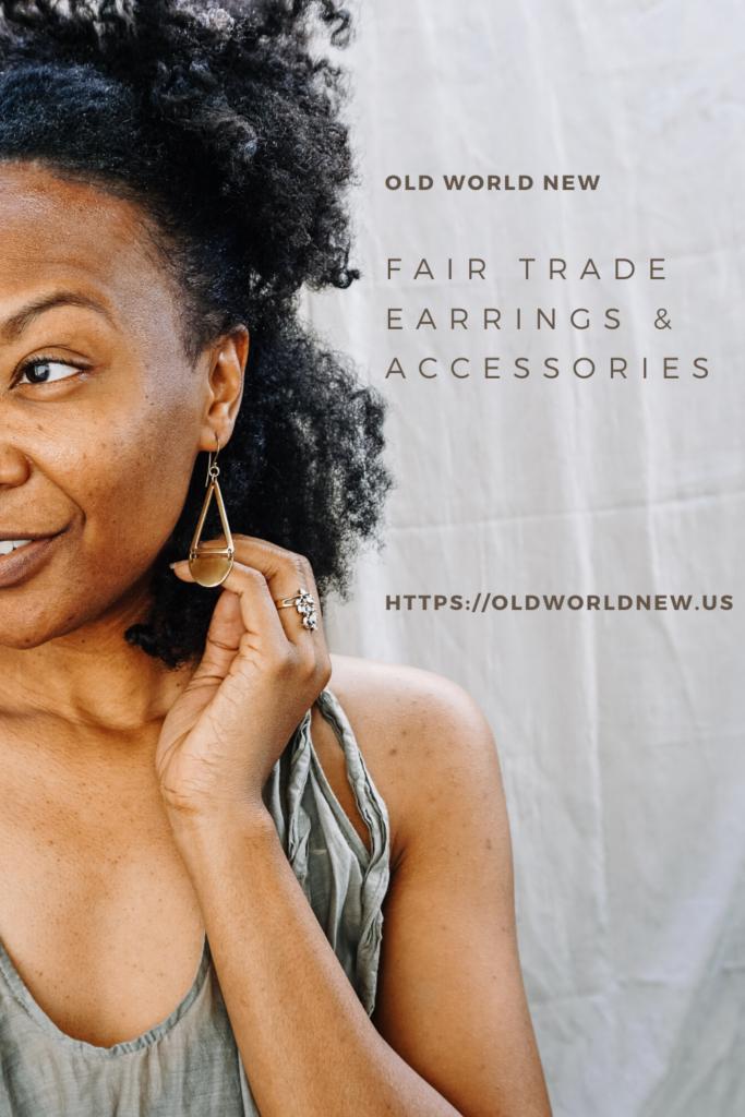 fair trade accessories - earrings made in Kenya