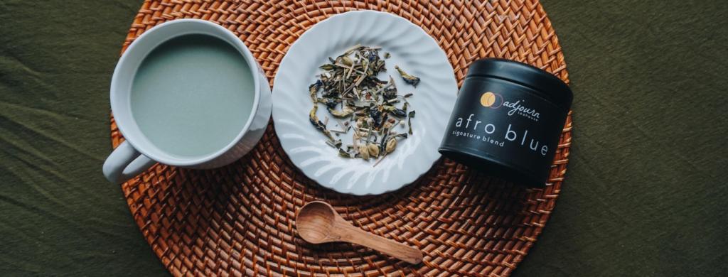 adjourn teahouse afro blue chai tea