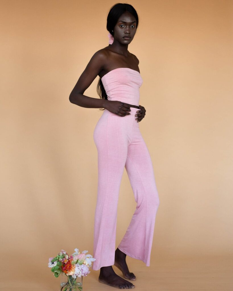 Hara the label - pink frankie flares - sustainable loungewear