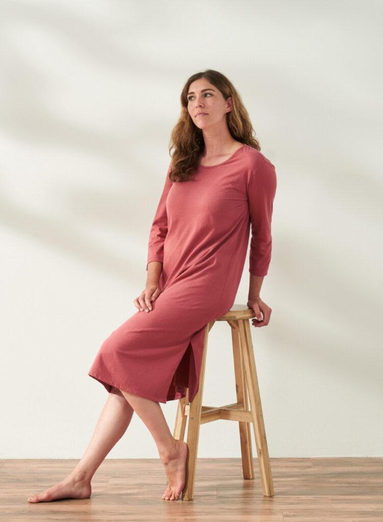 coyuchi adult night gown - women's solstic organic nightgown