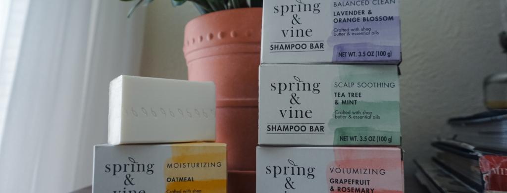 spring & vine naturally scented shampoo bars at Target - natural, low waste shampoo bars